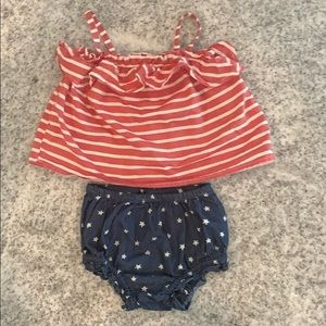 Old Navy July 4th Matching Set.